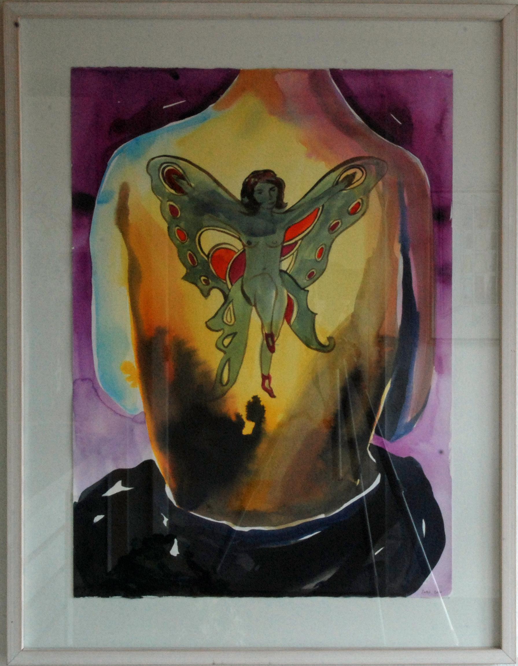 957 Adam Saks, akvarel