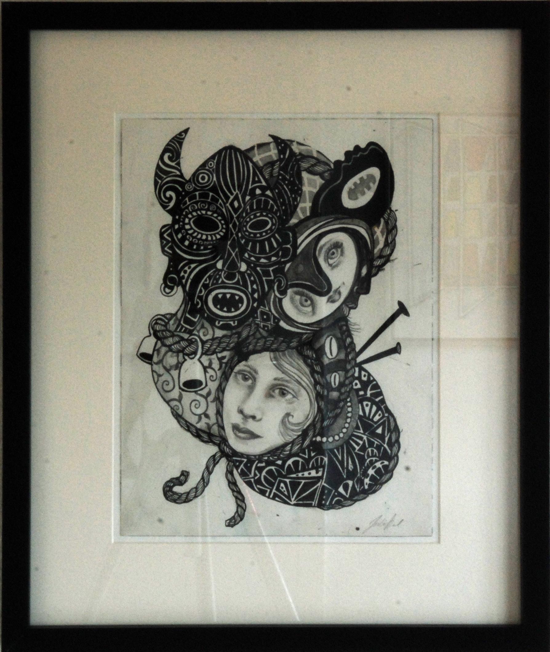 961 Julie Nord, akvarel og blæk