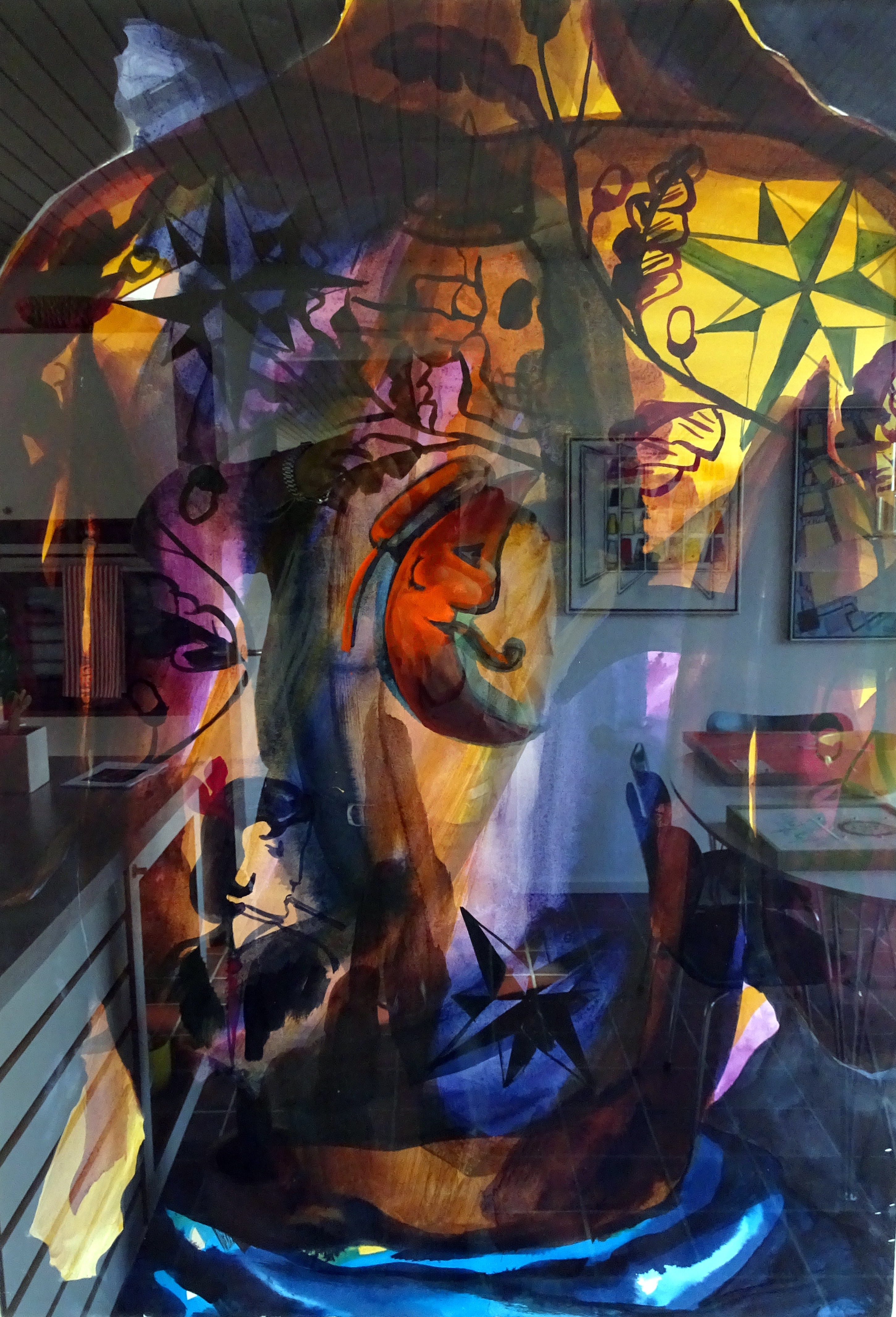 978   Adam Saks   akvarel